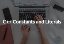 C++ Constants and Literals