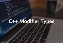 C++ Modifier Types