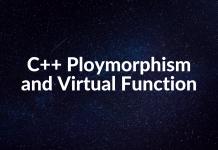 C++ Ploymorphism and Virtual Function