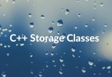 C++ Storage Classes