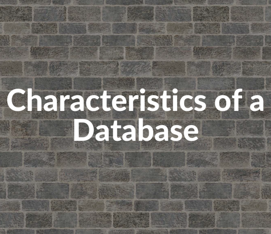 Characteristics of a Database
