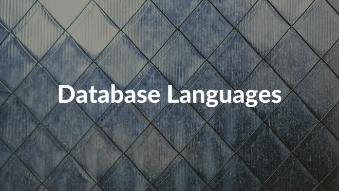 Database Languages
