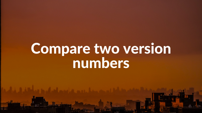 Compare two version numbers