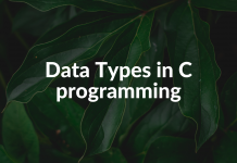 Data Types in C programming