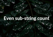 Even sub-string count
