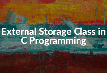 External Storage Class in C Programming