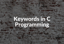 Keywords in C Programming