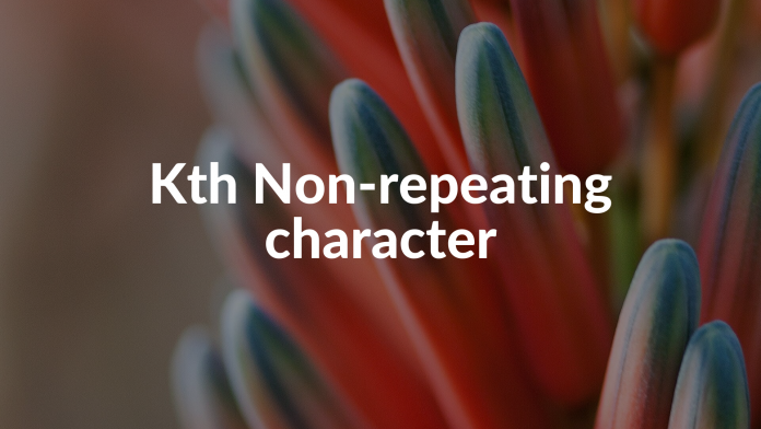Kth Non-repeating character
