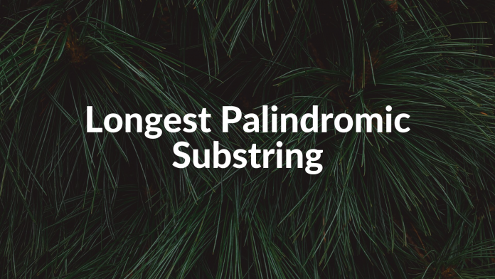 Longest Palindromic Substring