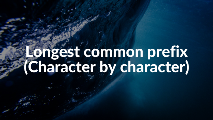 Longest common prefix (Character by character)