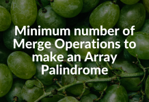 Minimum number of Merge Operations to make an Array Palindrome