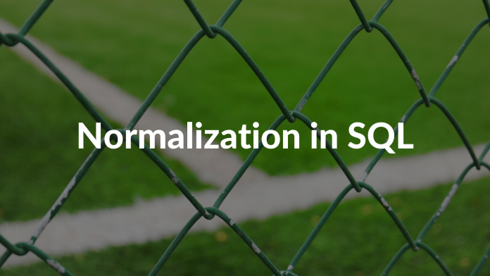 Normalization in SQL