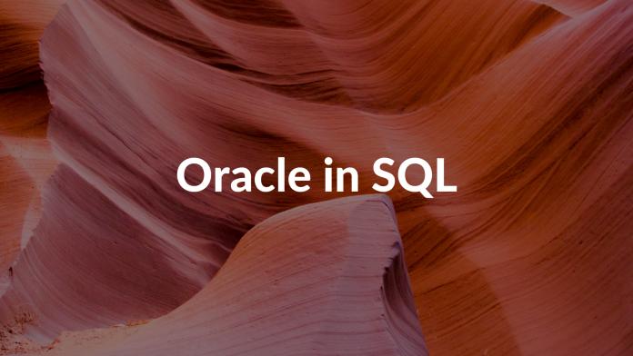 Oracle in SQL