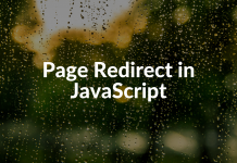 Page Redirect in JavaScript