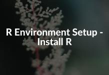 R Environment Setup - Install R