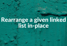 Rearrange a given linked list in-place