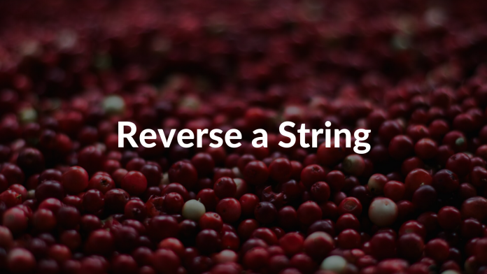 Reverse a String