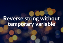 Reverse string without temporary variable