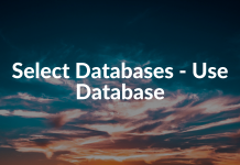 Select Databases - Use Database