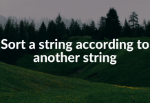 Sort a string according to another string