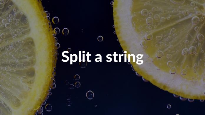 Split a string