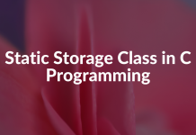 Static Storage Class in C Programming