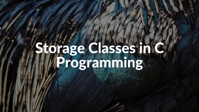 Storage Classes in C Programming