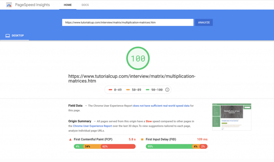Score a Perfect 100% on Google PageSpeed Insights