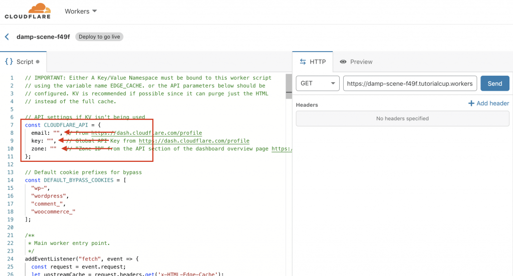 cloudflare create worker Script