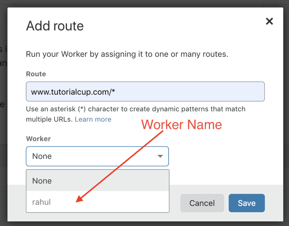 cloudflare worker add route