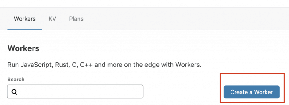 cloudflare worker create