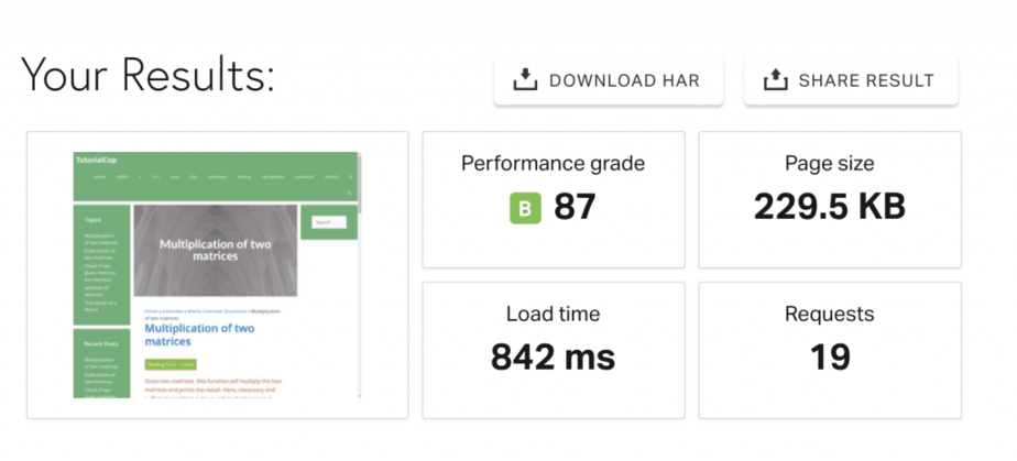 Make Your WordPress Site Load in Less than 1 Second on tools.pingdom.com