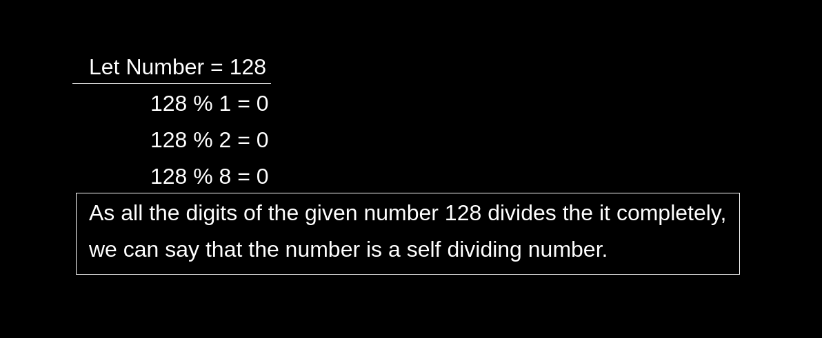 Self Dividing Numbers