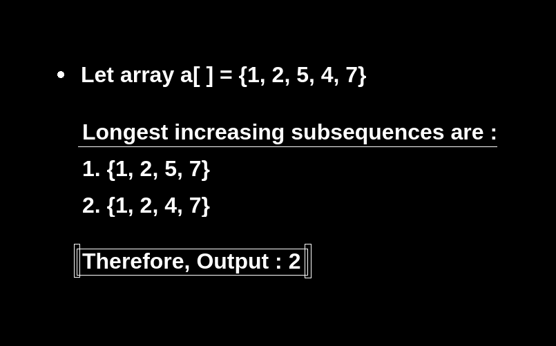 Number Of Longest Increasing Subsequence
