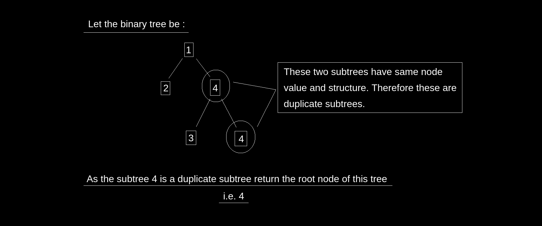 Find Duplicate Subtrees