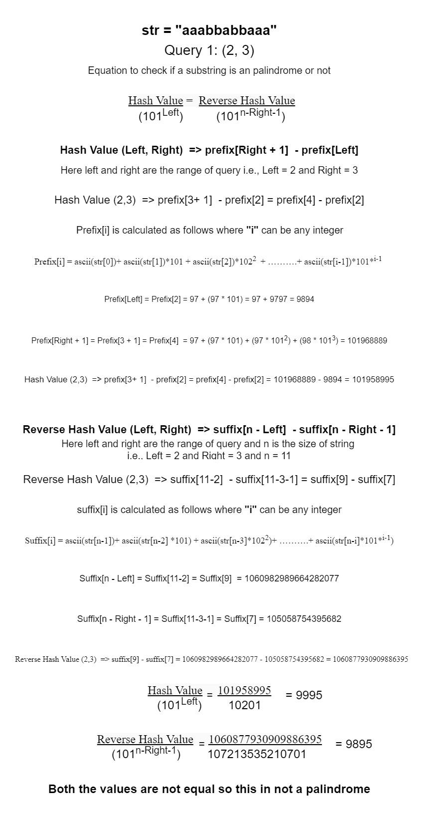 استعلامات سلسلة فرعية Palindrome