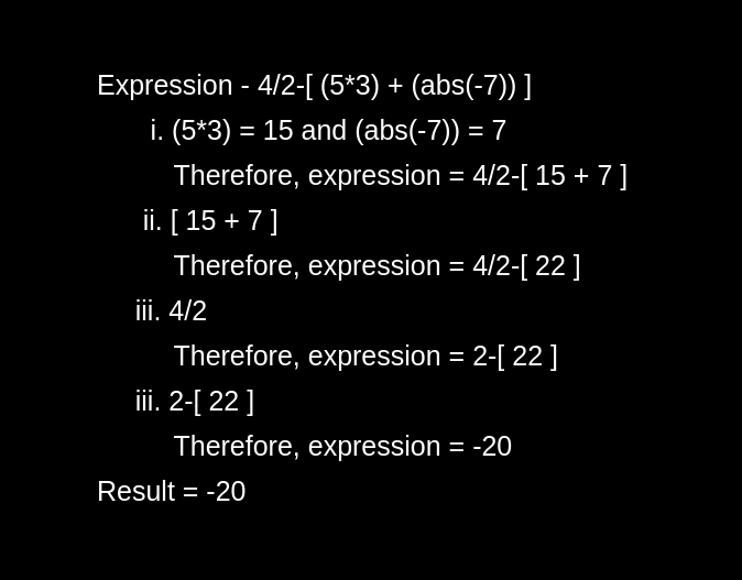Arithmetic Expression Evalution