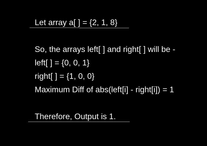 निकटतम बाएँ और दाएँ छोटे तत्वों के बीच अधिकतम अंतर खोजें