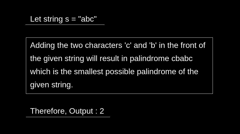 أقصر Palindrome