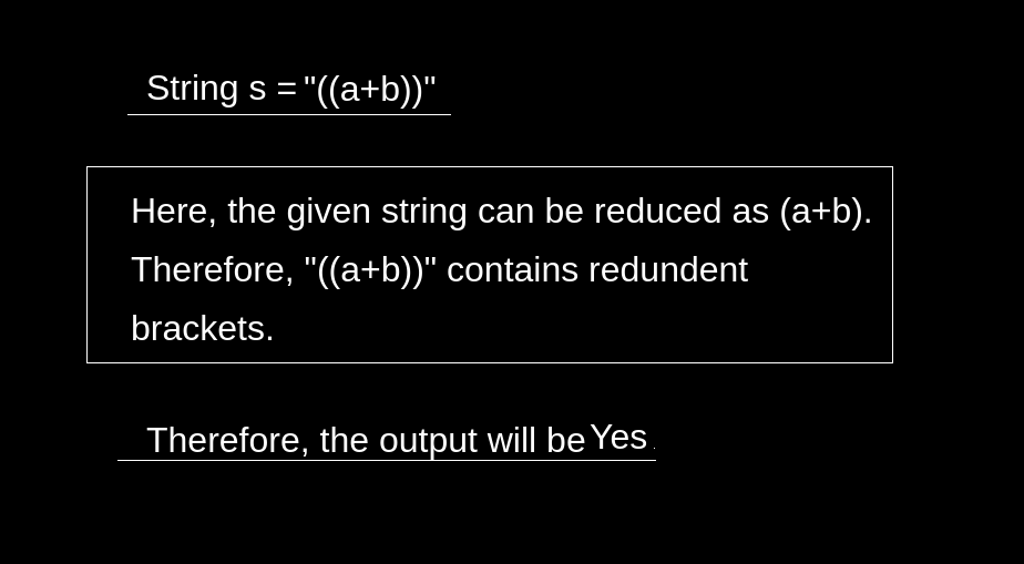 Expression Contains Redundant Bracket or Not