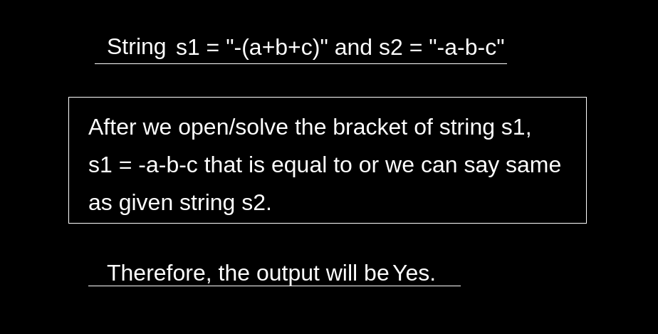Check if Two Expressions With Brackets are Same