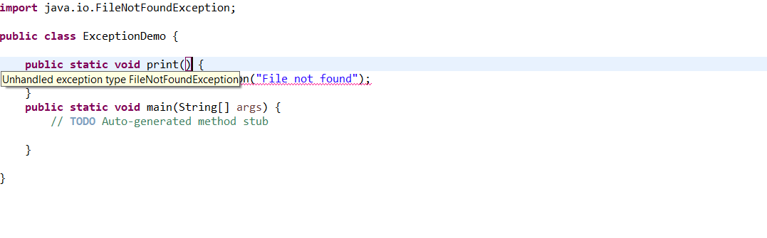 Java Throws keyword