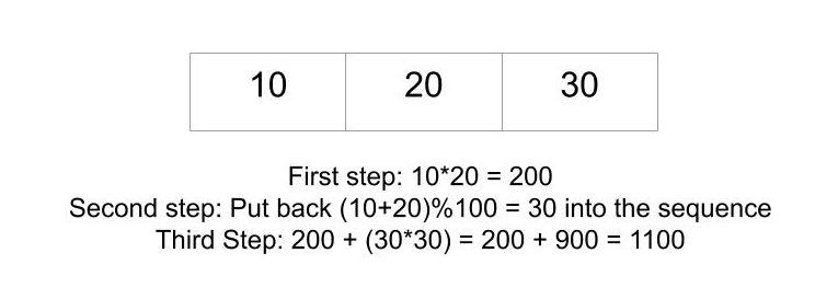Minimum sum of multiplications of n numbers