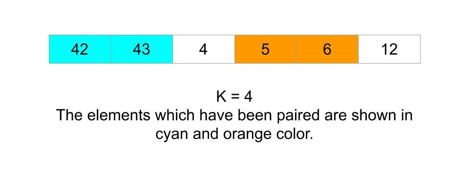Maximum sum of pairs with specific difference