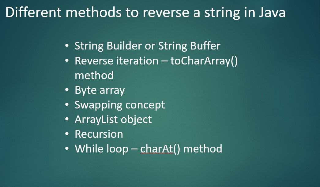 How to reverse a string in Java
