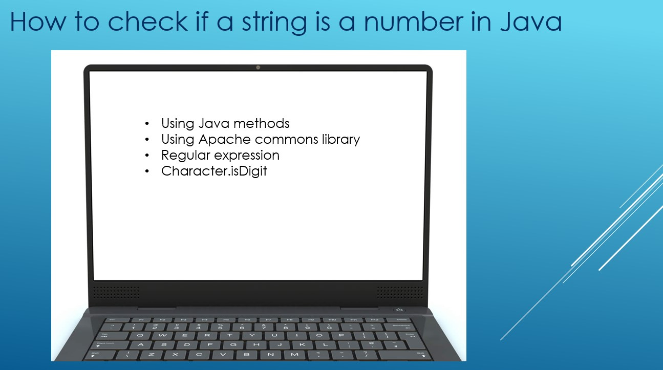 How to check if a string is a number